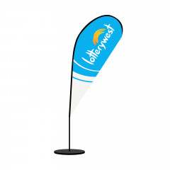 Tear Drop Banner with Indoor Base (3000mm)